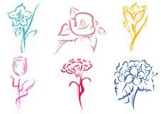 Free Flower Stripes Royalty Free Stock Image - 16186546