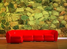 Free Red Couch Stock Image - 16186941