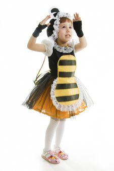 Free Small Girl Is Dressed Bee Royalty Free Stock Photos - 16187108