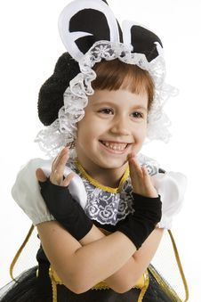 Small Girl Is Bee Costume Stock Photography