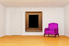 Free Room With Door And Chair With Frame Royalty Free Stock Photos - 16187348