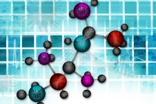 Free Molecular Background Stock Images - 16187934