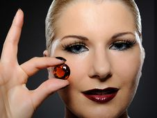 Free Fashion Woman With Bright Make-up And Jewel Stock Photos - 16188453