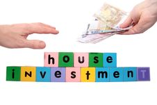 Joint House Investment In Toy Block Letters Royalty Free Stock Photography