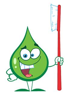 Free Green Toothpaste Character Holding A Toothbrush Royalty Free Stock Photography - 16189517