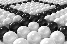 Free White And Black Patterned 3D Balls Royalty Free Stock Images - 16189649