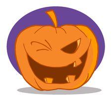 Free Halloween Pumpkin Character Winking Stock Photos - 16189823