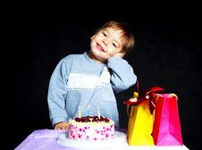 Baby Celebrating Birthday Stock Photo