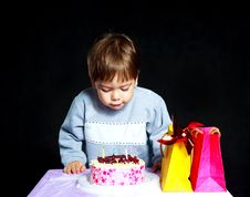 Baby Celebrating Birthday Stock Image