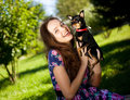 Free Girl With A Dog Stock Photo - 16190550