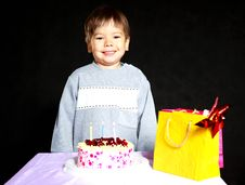 Baby Celebrating Birthday Royalty Free Stock Image