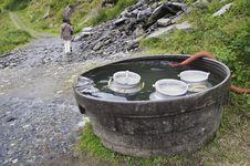 Refreshing Milk Jugs Royalty Free Stock Images