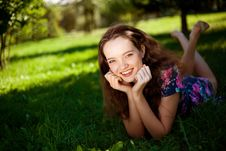 Free Girl In The Park Royalty Free Stock Photo - 16190635