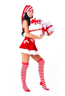 Free Girl With Presents Stock Image - 16190701