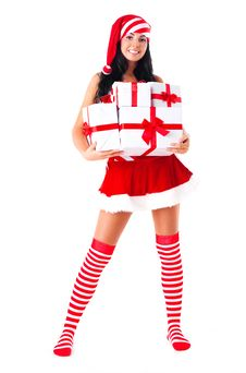 Free Girl With Presents Royalty Free Stock Images - 16190709