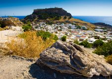 Free Ancient Town Lindos Royalty Free Stock Image - 16190796