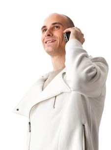 Free Young Guy Speaking On Cellphone Stock Images - 16191064