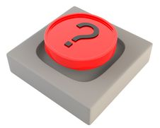 Free Red Button With Question Sign Stock Photo - 16191260