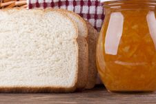 Free Yellow Jam And Bread Royalty Free Stock Photos - 16191438