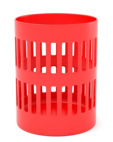 Free Red Trash Can Stock Image - 16191511