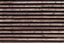 Horizontal Wooden Fence Stock Images