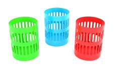 Free Color Trash Cans Royalty Free Stock Photography - 16191587