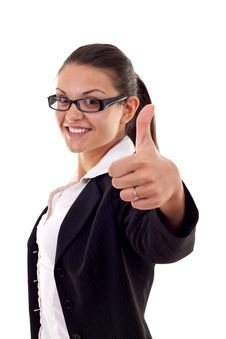 Free Woman Showing Thumbs Up Royalty Free Stock Photography - 16192917