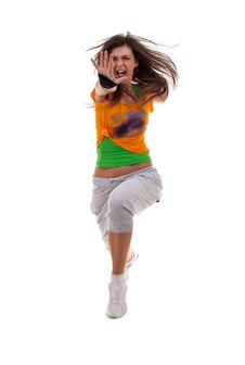 Free Woman Breakdancer Jumping Royalty Free Stock Image - 16193336