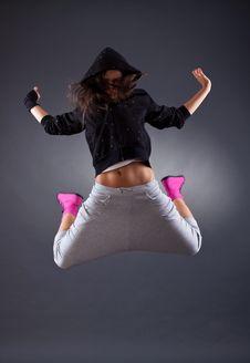 Free Female Dancer Jumping Stock Photos - 16193343