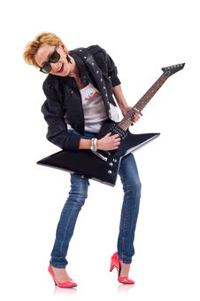 Free Rock Star Girl Royalty Free Stock Image - 16193426