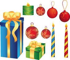 Free Christmas Set Royalty Free Stock Image - 16193456