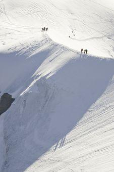 Free Descent Of The Aiguille Du Midi Stock Image - 16193721