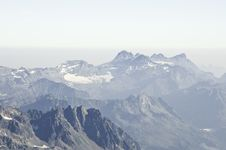 Views From L  Aiguille Du Midi Stock Photo