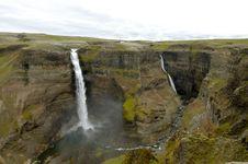 Free Haifoss Waterfall, Iceland. Stock Photos - 16194003