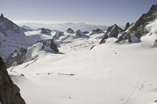 Views From L  Aiguille Du Midi Royalty Free Stock Image