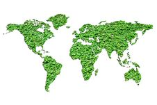 Free Green World Map Royalty Free Stock Photo - 16194045