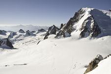 Views From L  Aiguille Du Midi Stock Photos