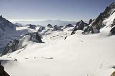 Views From L  Aiguille Du Midi Stock Image