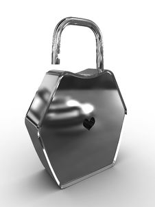Free Padlock With A Hole In The Form Of Heart Royalty Free Stock Photography - 16194247