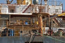 Free Rusty Superstructure Of A Ship Stock Photo - 16194260