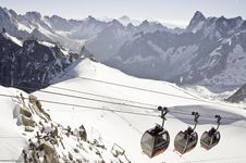 Free Views From L  Aiguille Du Midi Royalty Free Stock Photo - 16194305