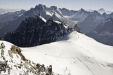 Free Views From L  Aiguille Du Midi Royalty Free Stock Image - 16194336