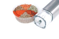 Nice Differnet Spicery Set And Saltcellar Stock Photography