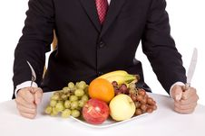 Free Businessman With Fruit Royalty Free Stock Photography - 16195157