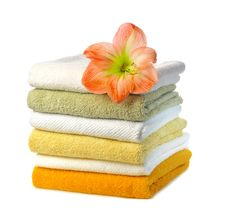 Free Stack Of Towels Royalty Free Stock Image - 16195336