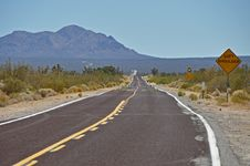 Free Lonesome Highway In Desert Stock Photography - 16195362