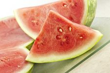 Fresh Cut Watermelon Royalty Free Stock Photos