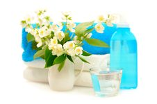 Free Blue Spa With Jasmin Stock Images - 16196194