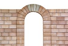 Free Isolated Arch From Bricks Royalty Free Stock Photo - 16196515