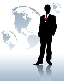 Free Silhouette Of The Businessman Stock Photo - 16197030